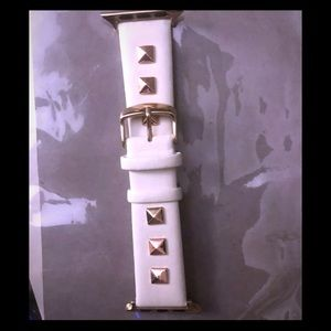 Spiked rose gold watch band